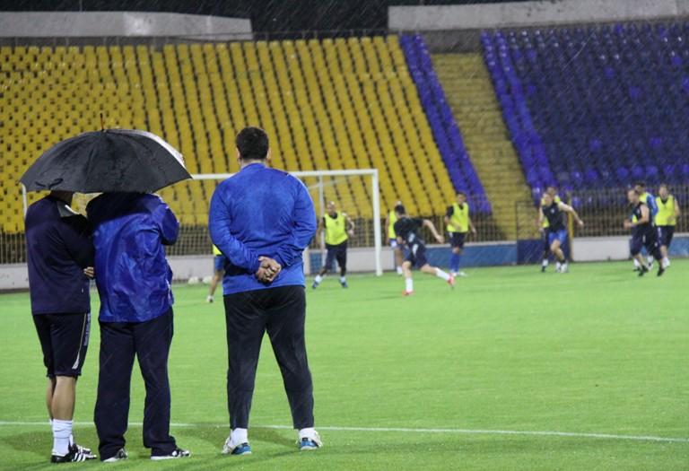 Фоторепортаж azerisportcom c ответного матча третьего квалификационного раунда лиги чемпионов между болгарским