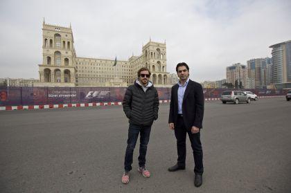 Fernando Alonso Bakı Şəhər Halqası ilə tanış oldu