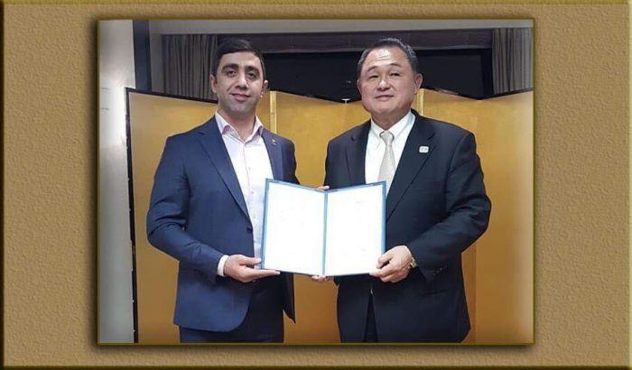 Азербайджанский тренер получил специальный диплом в Японии