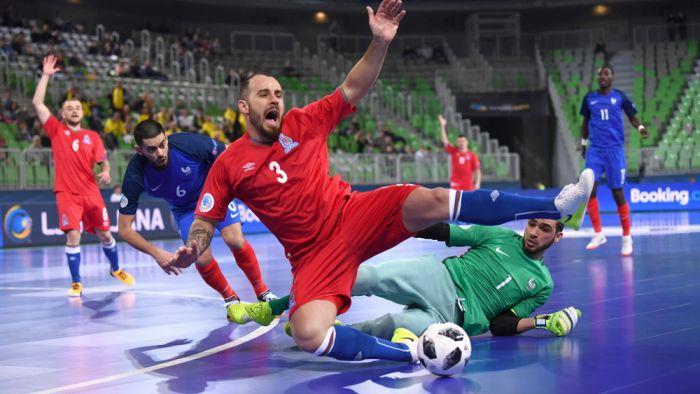 Сборная Азербайджана пофутзалу завершила борьбу начемпионате Европы